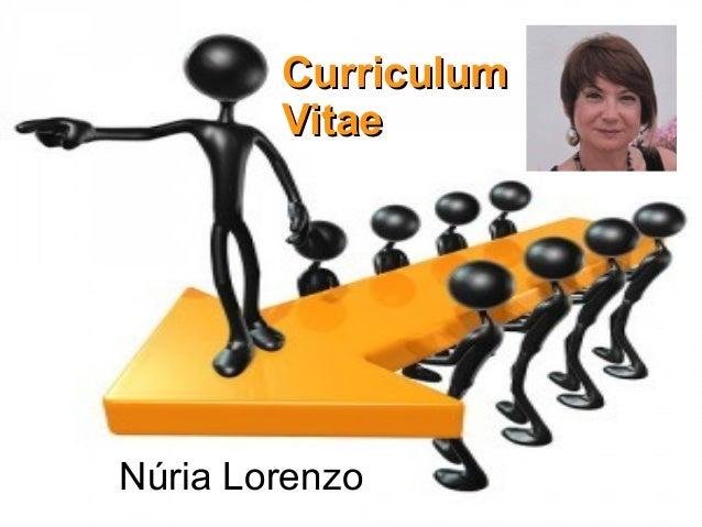 Núria LorenzoCurriculumCurriculumVitaeVitae
