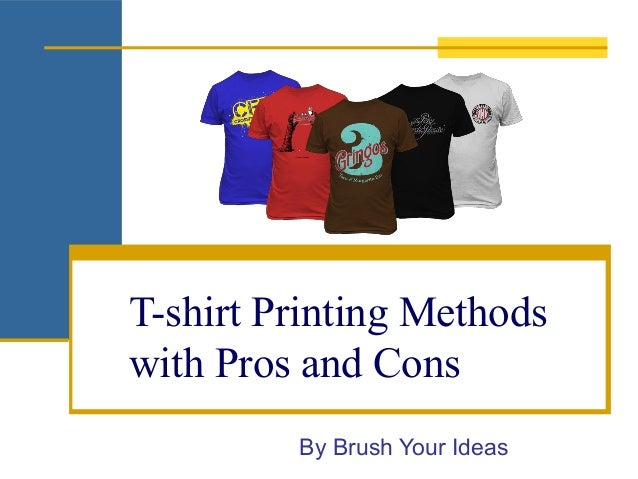 309595a1 T-shirt Printing Methods With pros and Cons