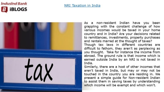 NRI Taxation in India