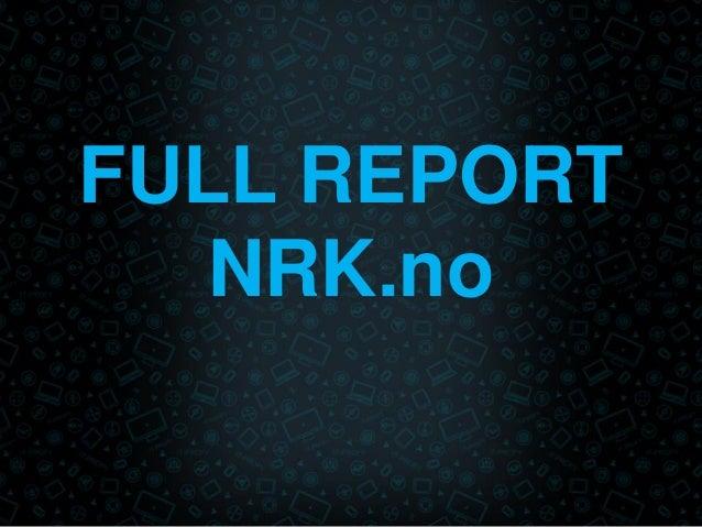 FULL REPORT NRK.no