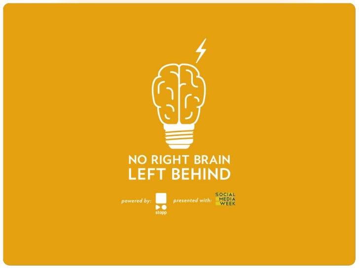 No Right Brain Left Behind - A global movement to re-instill creativity in education.