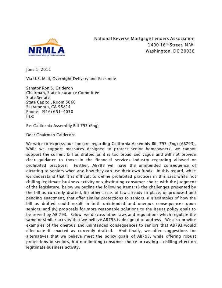 National Reverse Mortgage Lenders Association                                                           1400 16th Street, ...