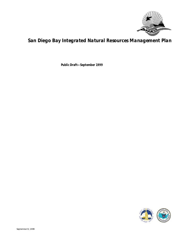 San Diego Bay Integrated Natural Resources Management Plan                           Public Draft—September 1999     Septe...