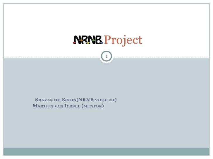 Project                         1 SRAVANTHI SINHA(NRNB STUDENT)MARTIJN VAN IERSEL (MENTOR)