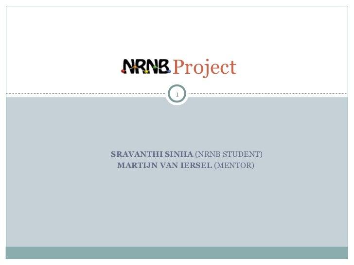 Project            1SRAVANTHI SINHA (NRNB STUDENT) MARTIJN VAN IERSEL (MENTOR)