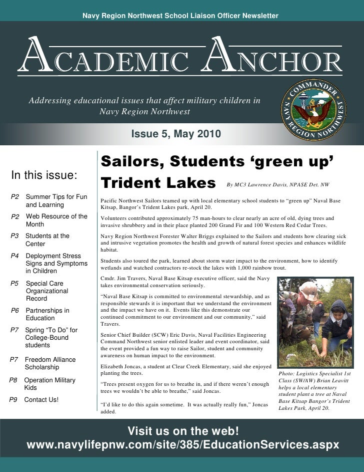 Navy Region Northwest School Liaison Officer Newsletter                    CADEMIC                                        ...