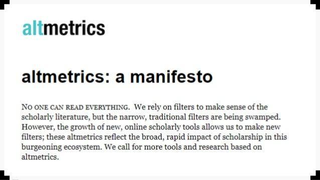 Altmétricas aplicadas a nivel institucional Slide 3