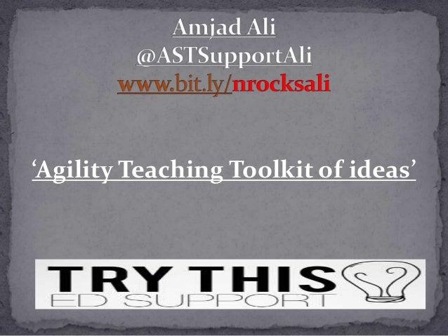 'Agility Teaching Toolkit of ideas'