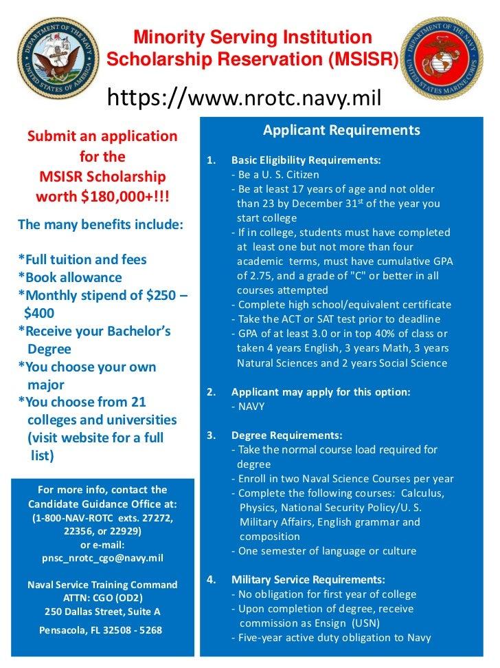 Nrotc Marine Option Scholarship Essay Contest - image 7