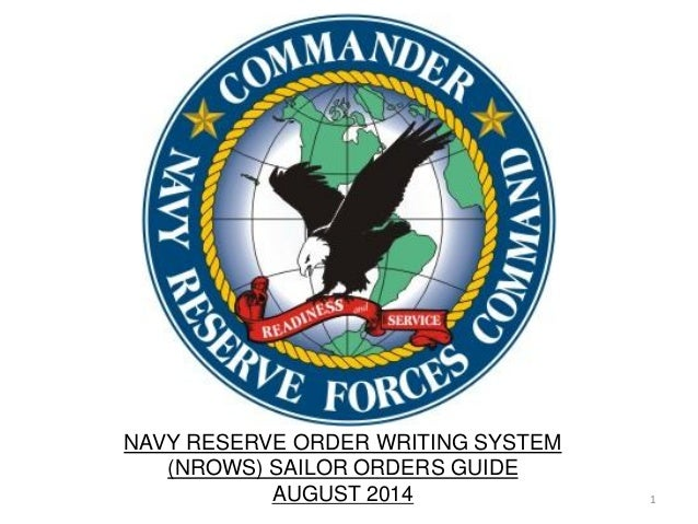 navy reserve order writing system nrows Of navy reserve order writing system (nrows) and defense travel system (dts) for upcoming command missions as repair parts petty officer, he flawlessly ordered and tracked three million dollars worth of parts.