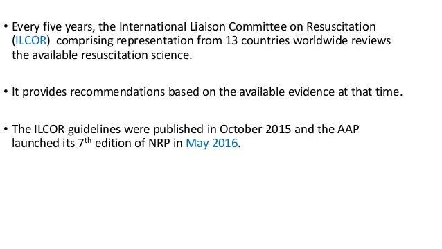 ilcor guidelines neonatal resuscitation 2015