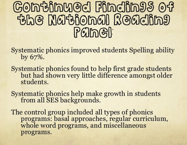 systematic phonics instruction programs