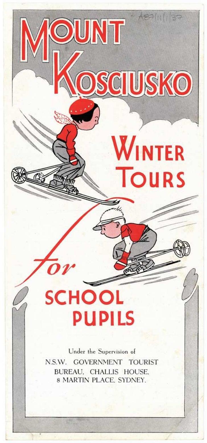 Mt Kosciusko winter tours for school pupils, c.1940s
