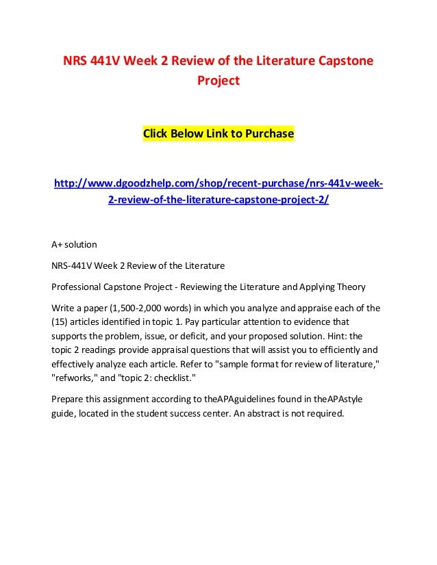 capstone project nrs 441v