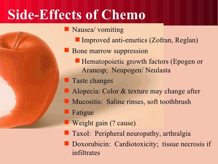 Side effects of chemotherapy breast cancer