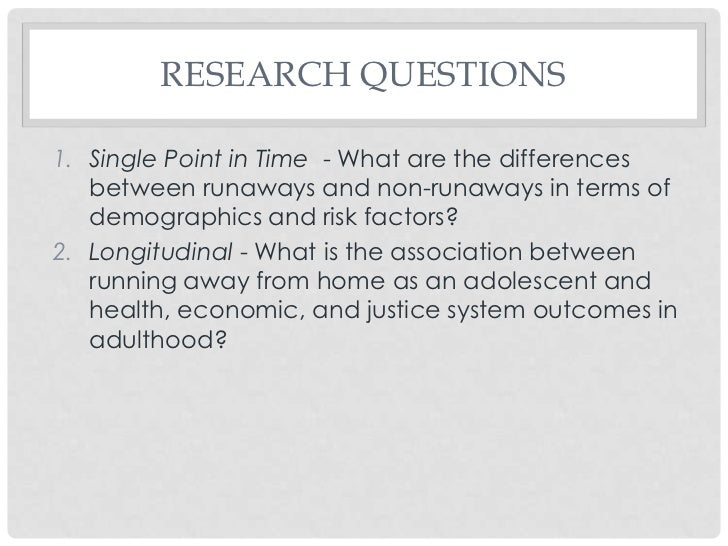 a discussion on the differences between cross sectional research design and the longitudinal design Research design and  understanding the pathophysiological and immunological differences between  that we combined both cross-sectional and longitudinal.