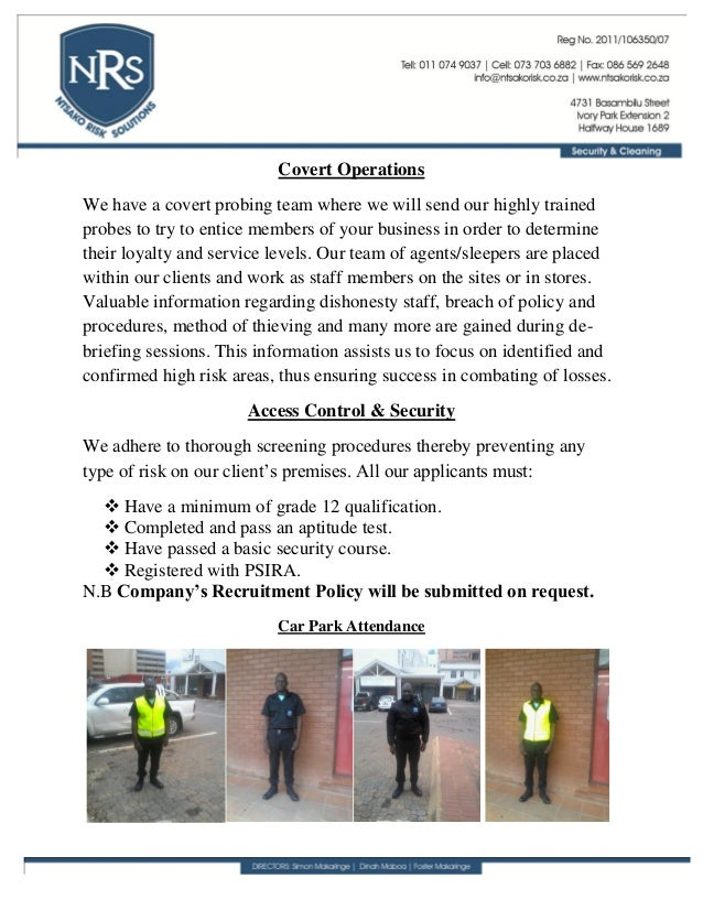 Nrs security profile