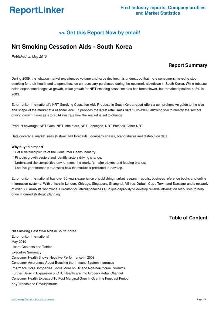 Nrt Smoking Cessation Aids - South Korea