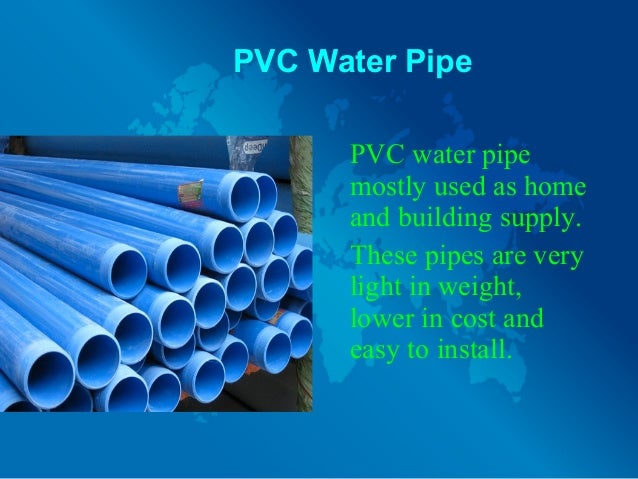 Different types of water pipes and their uses for Different types of water lines