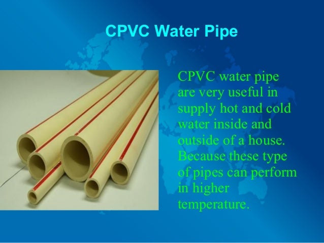 3. CPVC Water Pipe ...  sc 1 st  SlideShare & Different Types of Water Pipes And Their Uses
