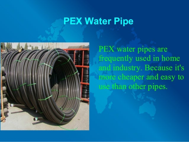 Water pipes: varieties and applications