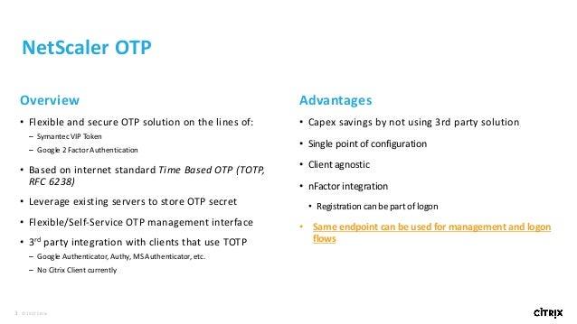 NS 12  OTP + NetScaler Secure Web Gateway