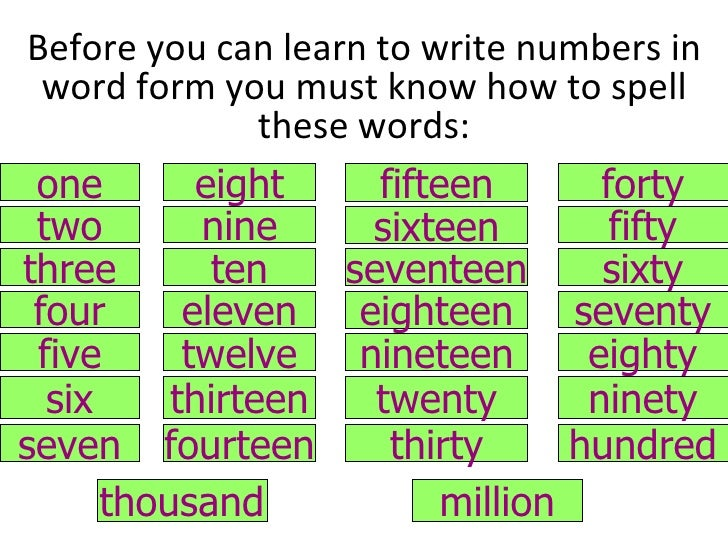writing numbers in word form chart Writing numbers in expanded form free video and text lesson explaining all three forms of writing numbers.