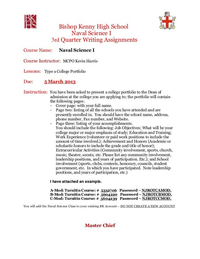 Write assignment