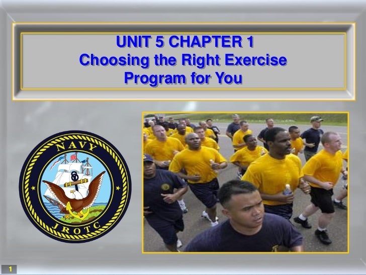 UNIT 5 CHAPTER 1    Choosing the Right Exercise         Program for You1