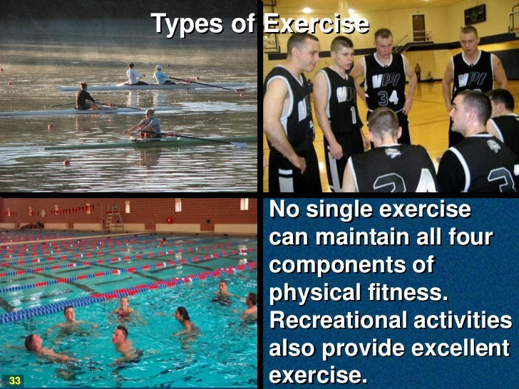 Types of Exercise              No single exercise              can maintain all four              components of           ...