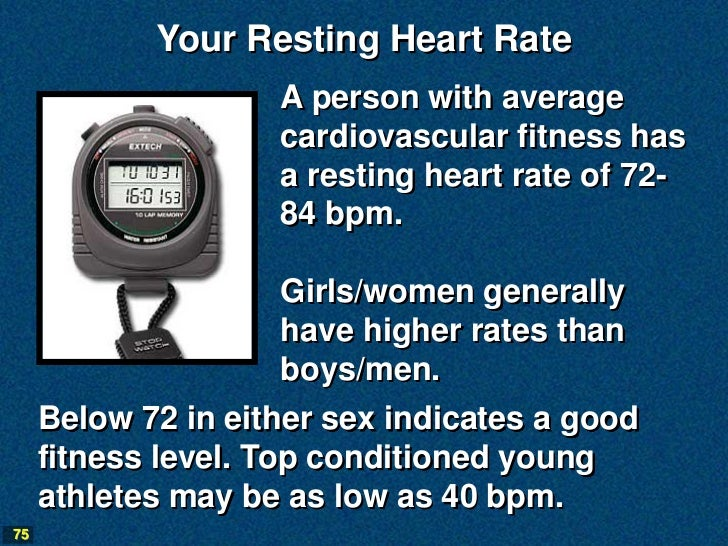 Your Resting Heart Rate                    A person with average                    cardiovascular fitness has            ...