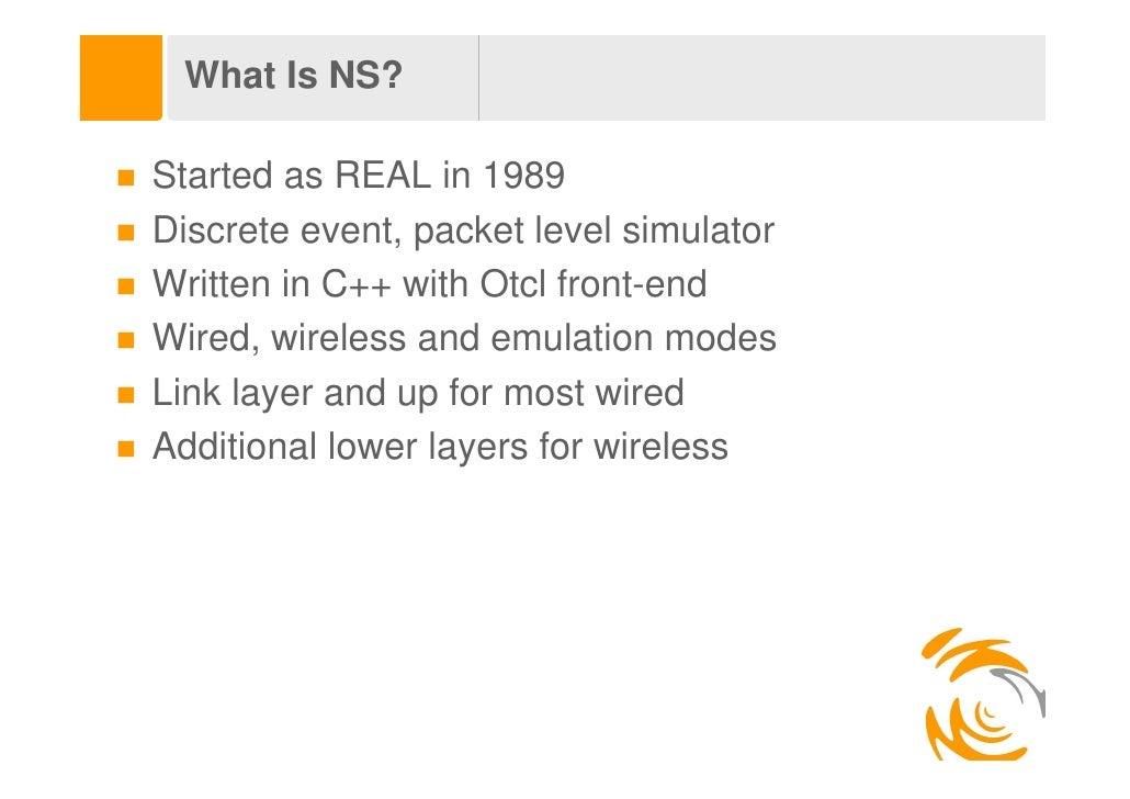 NS-2 Tutorial Slide 3