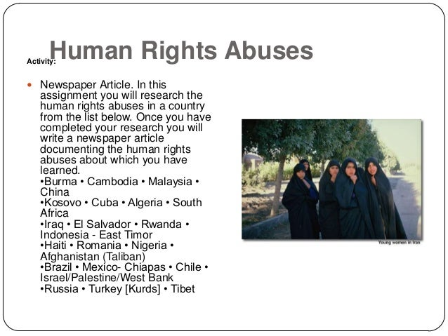 Human rights violation essay