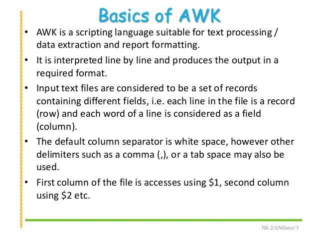 NS2: AWK and GNUplot - PArt III Slide 3