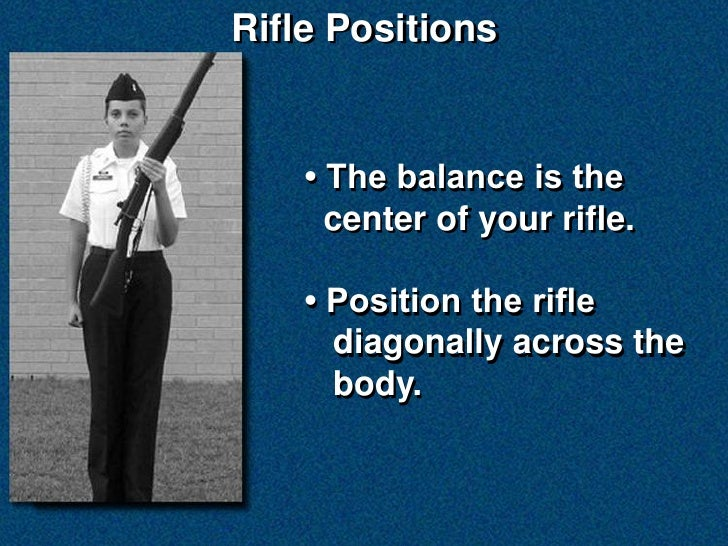 NS2 Manual of Arms with NJROTC Drill Rifle Slide 2