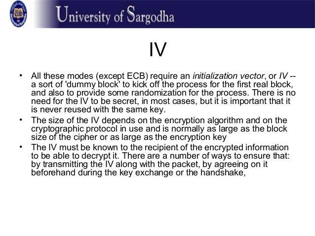 Block Ciphers Modes of Operation Slide 2