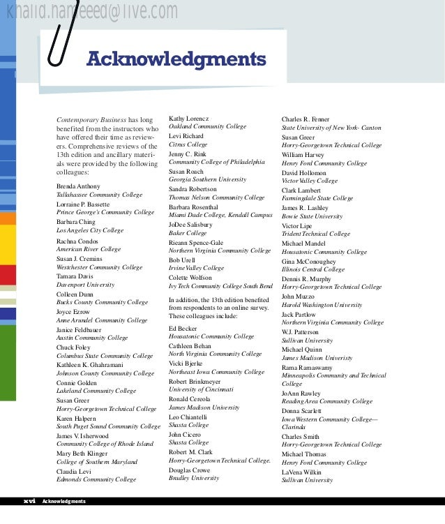 Contemporary business 13th edition 14 acknowledgments contemporary business fandeluxe Choice Image