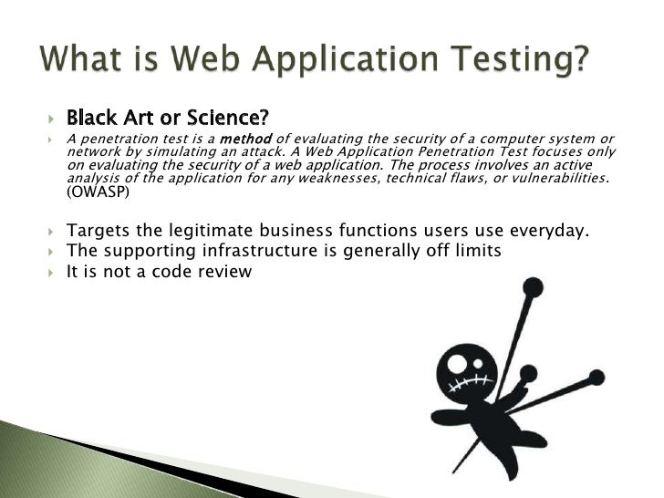 Web application penetration testing introduction.