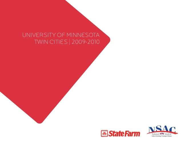 University of Minnesota twin cities   2009-2010