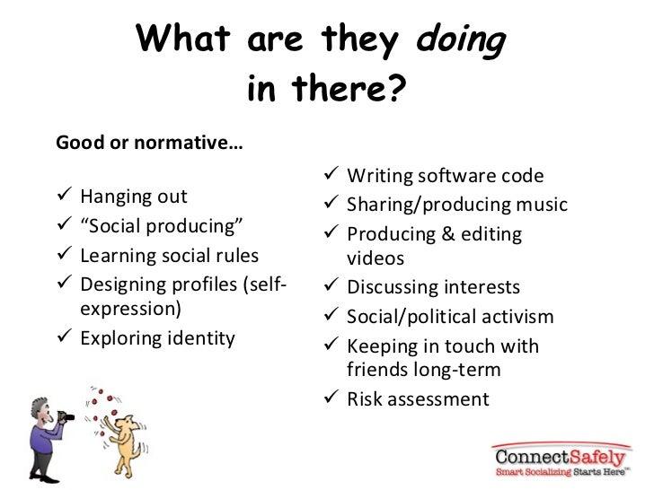 "What are they  doing   in there? <ul><li>Good or normative… </li></ul><ul><li>Hanging out </li></ul><ul><li>"" Social produ..."