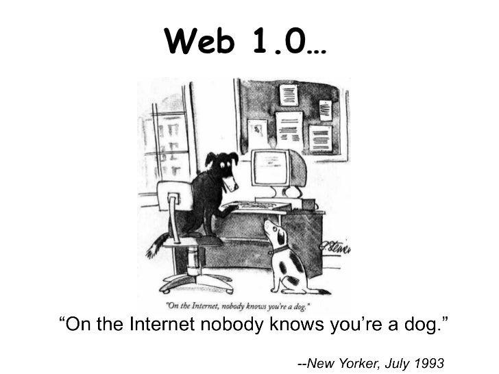 Web 1.0…