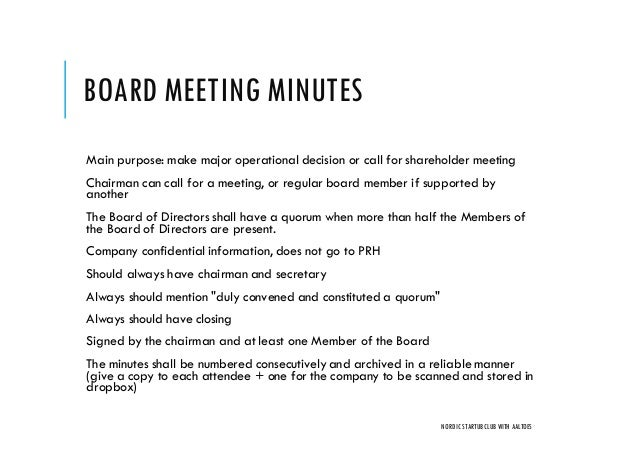 Board and shareholder meetings, how to do them right | Nordic Founders