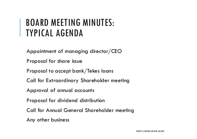 Board And Shareholder Meetings How To Do Them Right  Nordic Founders