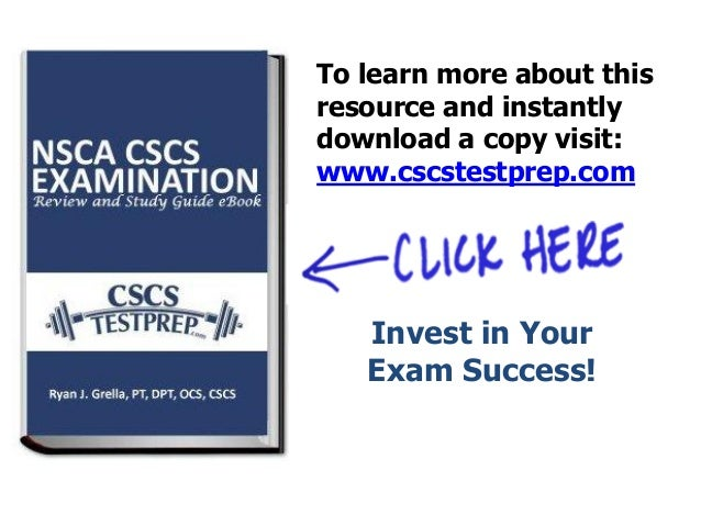 Updated CSCS Exam Tips - Free Smart Tool For CSCS Exam Study
