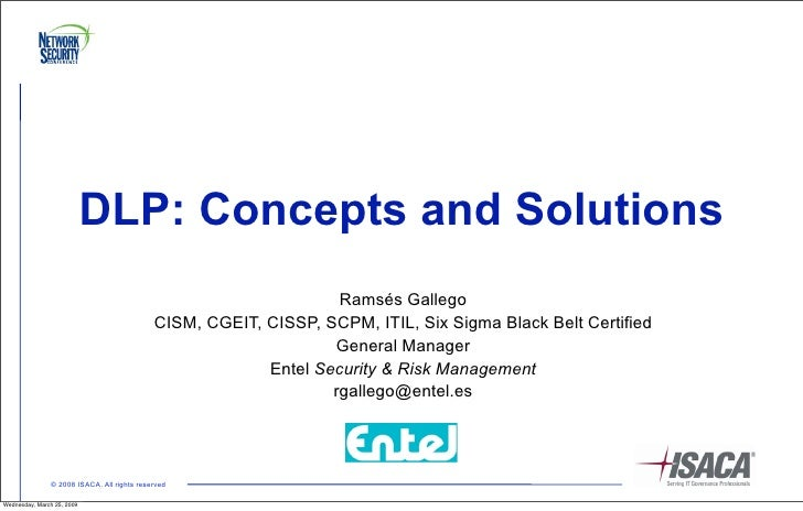 DLP: Concepts and Solutions                                                                    Ramsés Gallego             ...