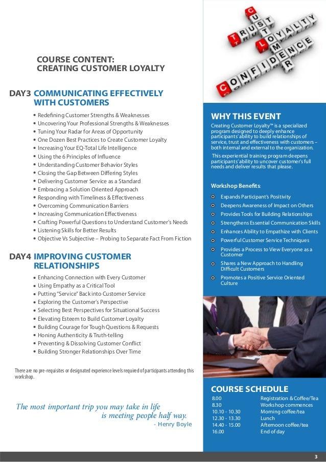 Negotiating Sales Success & Customer Loyalty 10-13 October 2016 Kuala Lumpur, Malaysia / 16-19 October 2016 Dubai, UAE Slide 3