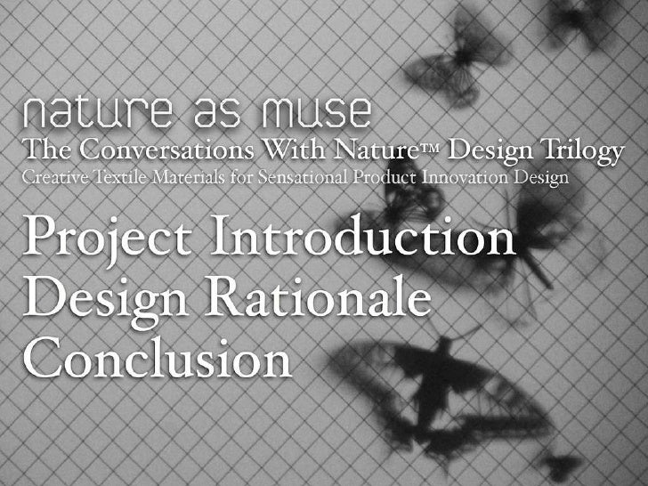 The Conversations With Nature Design Trilogy Slide 3