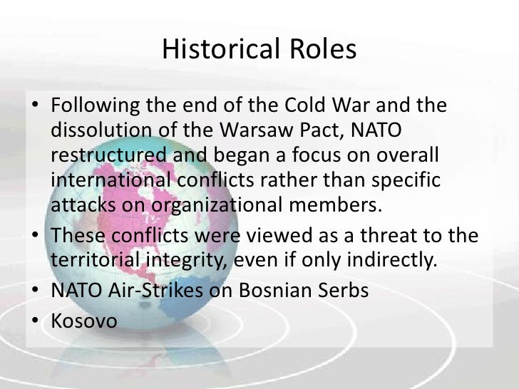 the role of nato and the Answer nato did not exist during the korean conflict actually, nato (the north atlantic treaty organization) came into being on april 4, 1949, so it.