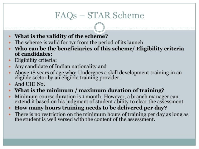 Nsdc star scheme in chetna.