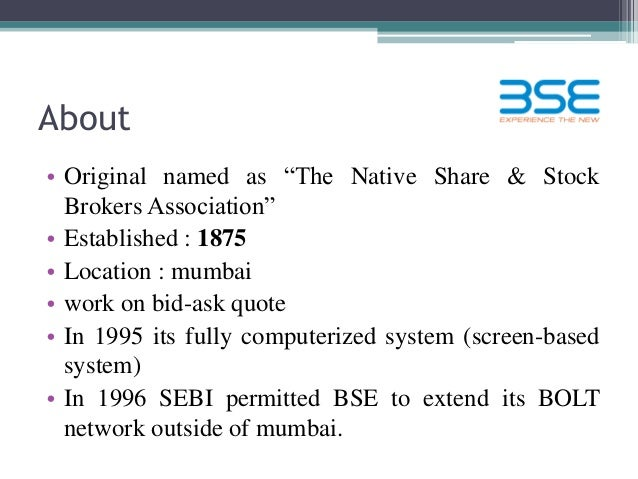 Nse screen based trading system
